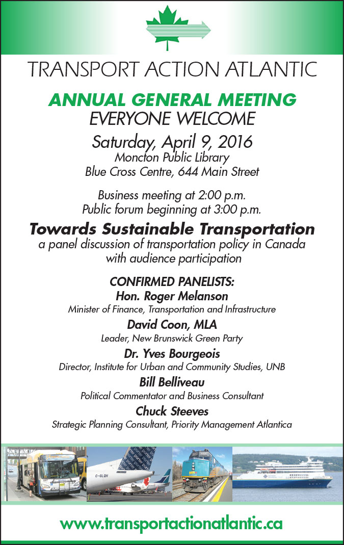 Detailed schedule of times and panelists for the TAA Annual General Meeting on April 9, 2016.
