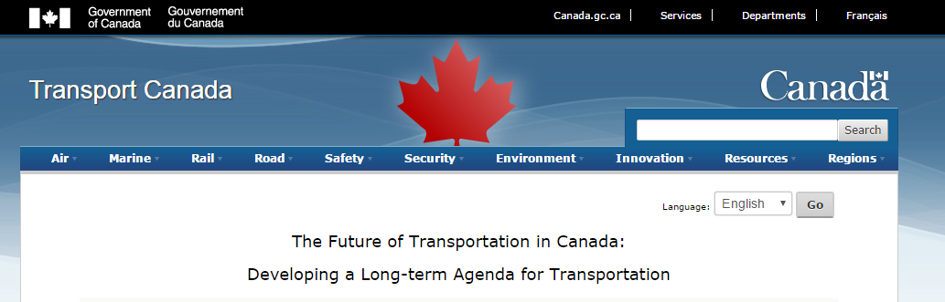 Transport Canada survey on the future of transportation in Canada